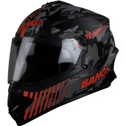 SB-42 Bang Blaze Motocross Matt Black With Orange