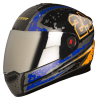 Steelbird Air Rage Glossy Black with Blue&Orange