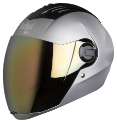 SBA-2 MAT SILVER ( Fitted With Clear Visor Extra Gold Chrome Visor Free)
