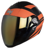 SBA-2 Streak Glossy Black with Orange