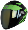 SBA-2 Streak Glossy Black with Green