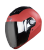 SBA-2 DASHING RED SILVER VISOR