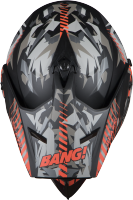 SB-42 Bang Blaze Mat Black With Orange Plus P-Cap
