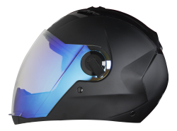 SBA-2 Night Vision Mat Black ( Fitted With Clear Visor  Extra Blue Night Vision Visor Free)