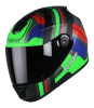 SBH-11 Vision Groove Glossy Black With Green