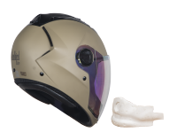 SBA-2 Mat Desert Storm Night Vision With Gold Visor (With EPS Chin Guard Protection)
