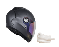 SBA-2 Mat Honda Grey Night Vision With Gold Visor (With EPS Chin Guard Protection)