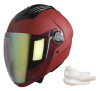 SBA-2 Mat Sports Red Night Vision With Gold Visor (With EPS Chin Guard Protection)