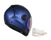 SBA-2 Mat Y.Blue Night Vision With Gold Visor (With EPS Chin Guard Protection)