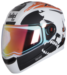 SBA-1 Beast Mat White With Orange (Night Vision Visor)