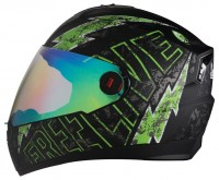 SBA-1 Freelive Mat Black With Green (Night Vision Visor)