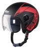 SBH-16 Pulse Beat Glossy Black With Red