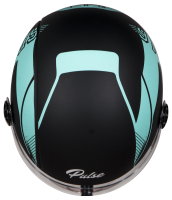 SBH-16 Pulse Beat Matt Black With Light Blue
