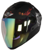 SBA-2 Mahadev Mat Black With White Night Vision Gold Visor