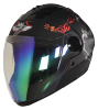 SBA-2 Mahadev Mat Black With Grey Night Vision Rainbow Visor