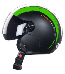 SBH-16 Bravo Mat Black ( Fitted With Clear Visor Extra Smoke Visor Free)