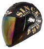 SBA-2 Tank Mat Black With Gold Gold Visor