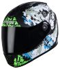 SBH-11 Vision Skull Mat Black With Battle Green