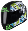 SBH-11 Vision Skull Mat Black With Y. Green