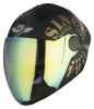 SBA -2 Tank Double Visor Mat Black With Gold Night Vision with Gold Inner Visor