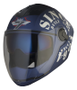 SBA -2 Tank Double Visor Mat Y. Blue With White Blue Inner Visor