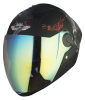 SBA-2 Mahadev Mat Black With White Night Vision & Gold Inner Visor