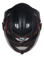 SBA-2 Mahadev Double Visor Mat Black With White Night Vision With Rainbow Inner Visor
