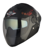 SBA-2 Mahadev Double Visor Mat Black With White With Gold Inner Visor