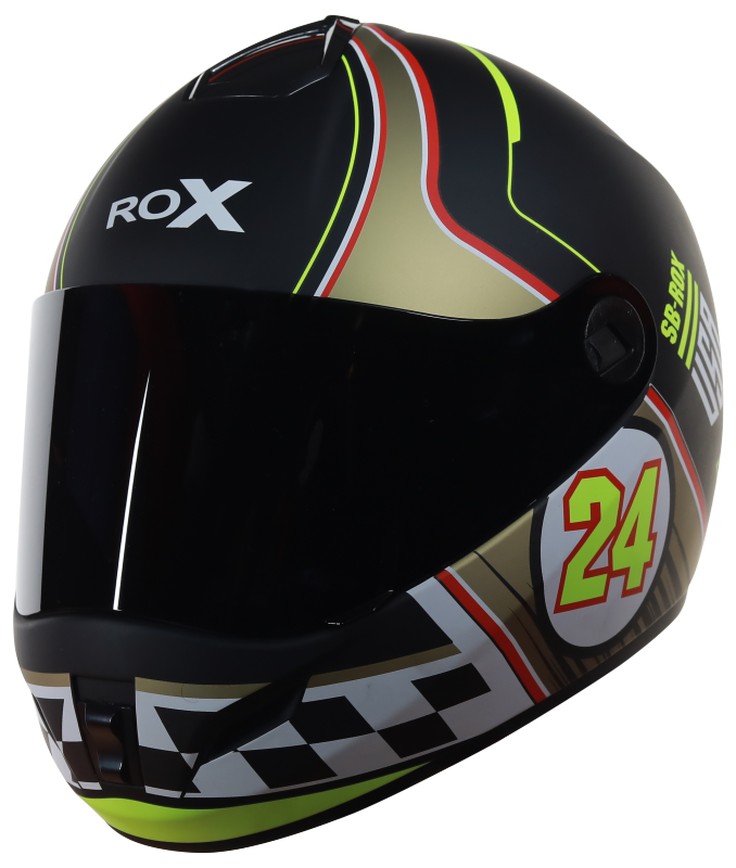 SB-39 Rox Fury Mat Black With Yellow Gold
