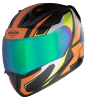 SA-1 Aviate Mat Black With Orange(Fitted With Clear Visor Extra Rainbow Chrome Visor Free)
