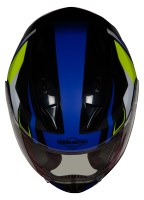 SA-1 Aviate Mat Black With Blue(Fitted With Clear Visor Extra Green Night Vision Visor Free)