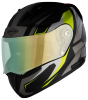 SA-1 Aviate Mat Black With Grey (Fitted With Clear Visor Extra Green Night Vision Visor Free)