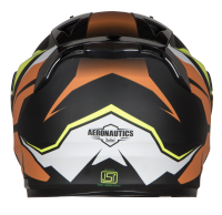 SA-1 Aviate Mat Black With Orange(Fitted With Clear Visor Extra Green Night Vision Visor Free)