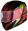 SA-1 Aviate Mat Black With Red(Fitted With Clear Visor Extra Gold Night Vision Visor Free)