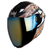 SBA-2 Reflective Screw Mat Black With Orange Gold Chrome Visor