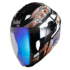 SBA-2 Reflective Screw Mat Black With Blue Blue Night Vision Visor