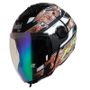 SBA-2 Reflective Screw Mat Black With Yellow Rainbow Night Vision Visor