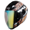 SBA-2 Reflective Screw Mat Black With Orange Gold Night Vision Visor