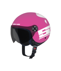 SBH-16 JUNIOR SOLDIER Dashing Pink With White For Kids  (With Extra Free Clear Visor)