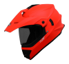 SB-42 Turf Single Visor Glossy Fluo Red (With Extra Clear Visor)