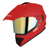 SB-42 Turf Single Visor Mat Sports Red With Gold Chrome Visor (With Extra Clear Visor)