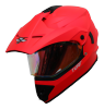 SB-42 Turf Single Visor Glossy Fluo Watermelon With Gold Night Vision Visor (With Extra Clear Visor)