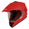 SB-42 Turf Single Visor Mat Sports Red With Gold Night Vision Visor (With Extra Clear Visor)