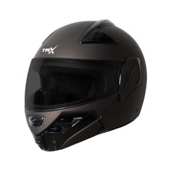 SB-34 TRX MAT  ROYAL BROWN (FITTED WITH CLEAR VISOR EXTRA SMOKE VISOR FREE)