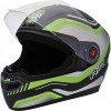 Steelbird Air Delta Glossy Black with Green
