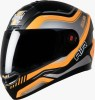 Steelbird Air Delta Matt Black with Orange