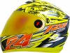Steelbird Air Hovering Glossy Fluo Yellow with Orange