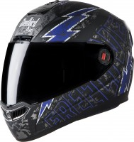 Steelbird Air Free Live Matt Black With Blue