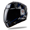 Steelbird Air Racer Glossy Black with Blue