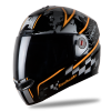Steelbird Air Racer Glossy Black with Orange